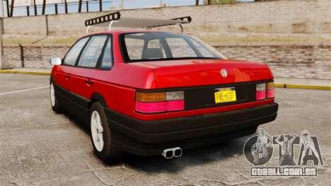 Volkswagen Passat B3 1995 para GTA 4 traseira esquerda vista