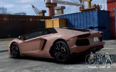 Lamborghini Aventador LP760-4 Oakley Design para GTA 4 vista de volta