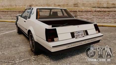 Sabre Rod Ride para GTA 4 traseira esquerda vista