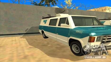News Van HQ para GTA San Andreas esquerda vista