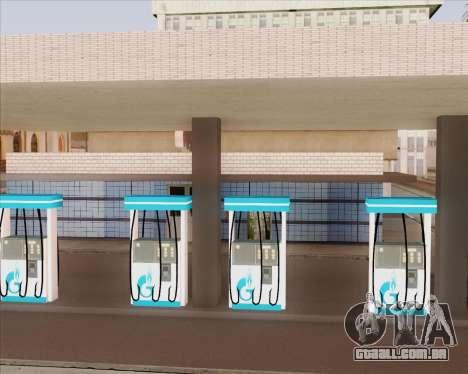 AZS Gazprom Neft para GTA San Andreas terceira tela
