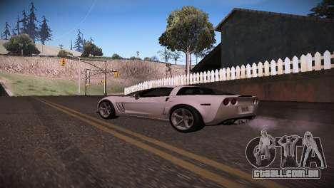 Chevrolet Corvette para GTA San Andreas esquerda vista
