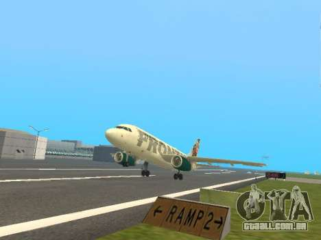 Airbus A319-111 Frontier Airlines Red Foxy para GTA San Andreas vista superior