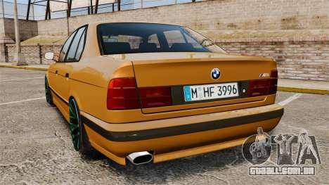 BMW M5 1995 para GTA 4 traseira esquerda vista