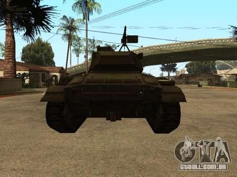 M24-Chaffee para GTA San Andreas vista direita