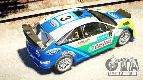 Ford Focus RS M Gronholm Rally Finland WRC para GTA 4 vista interior