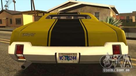 Sabre HD from GTA 3 para GTA San Andreas vista direita