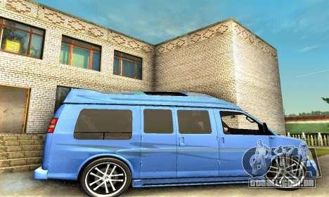 GMC Savana para GTA San Andreas vista superior