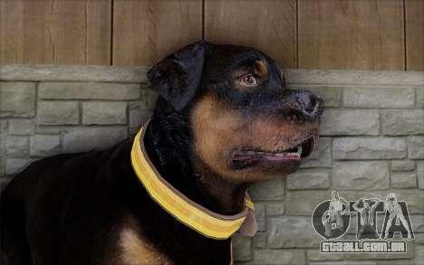 Rottweiler from GTA 5 para GTA San Andreas terceira tela