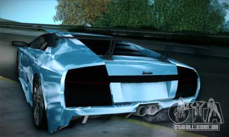 Lamborghini Murcielago GT Coloured para vista lateral GTA San Andreas