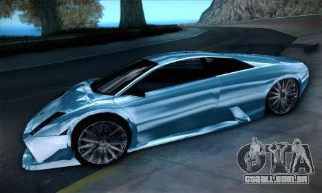 Lamborghini Murcielago GT Coloured para GTA San Andreas vista traseira