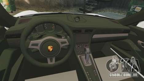Porsche 911 GT3 (991) 2013 para GTA 4 vista interior