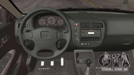 Honda Civic Si 1999 Coupe para GTA San Andreas vista traseira