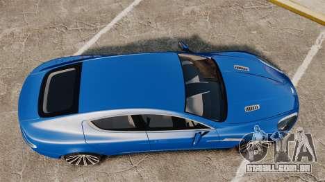 Aston Martin Rapide 2010 para GTA 4 vista direita