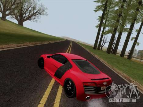Audi R8 V10 Plus para GTA San Andreas vista inferior