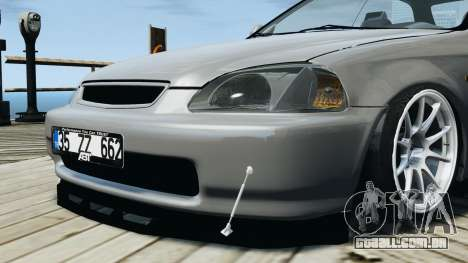 Honda Civic 1.6i ES para GTA 4 vista de volta