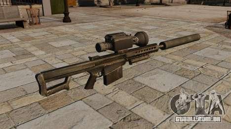Barrett M82A1 rifle sniper com silenciador para GTA 4 segundo screenshot