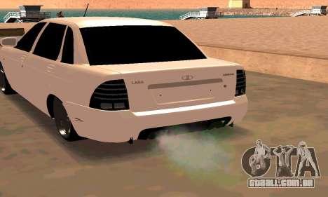 Lada Priora Sport para GTA San Andreas esquerda vista