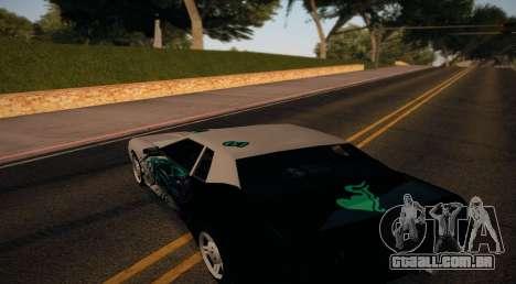 Vinyl for Elegy para GTA San Andreas traseira esquerda vista