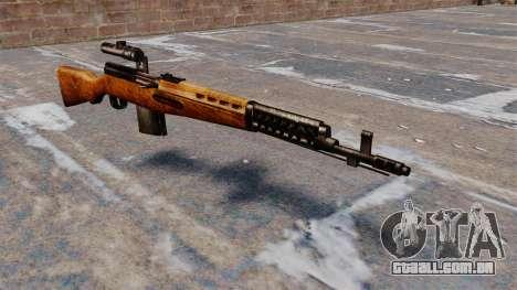 O rifle sniper SVT-40 para GTA 4