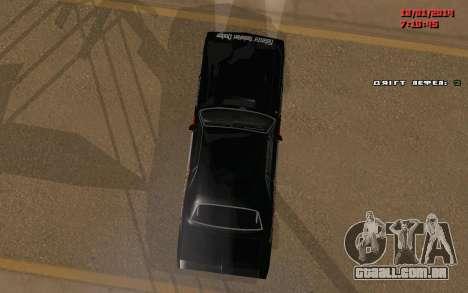 Challenger Missile para GTA San Andreas vista traseira