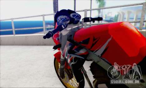 Kawasaki 150L Ninja Series para GTA San Andreas traseira esquerda vista