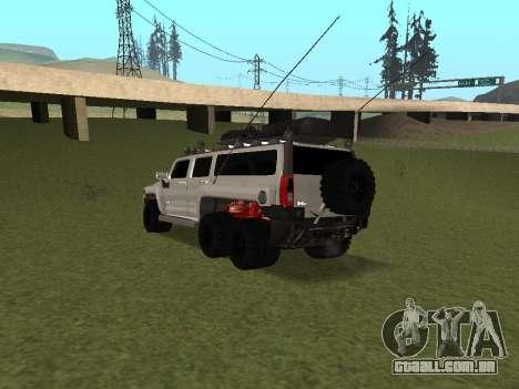 Hummer H3 6x6 para GTA San Andreas traseira esquerda vista