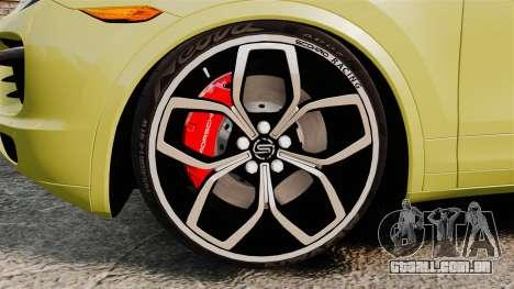 Porsche Cayenne 2012 SR para GTA 4 vista de volta