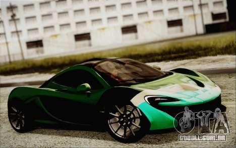 McLaren P1 2014 v2 para GTA San Andreas vista direita