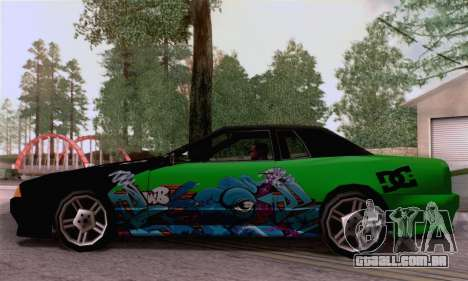 O trabalho de pintura para a elegia para GTA San Andreas traseira esquerda vista