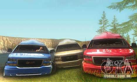 GMC Savana para GTA San Andreas esquerda vista