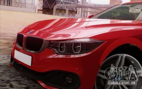 BMW 435i para GTA San Andreas vista traseira