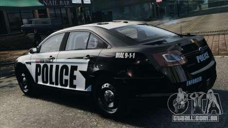 Ford Taurus Police Interceptor 2010 para GTA 4 esquerda vista