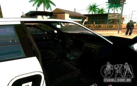 Police Buffalo GTA V para GTA San Andreas vista traseira