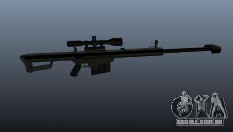 Rifle de sniper Barrett M82A1 para GTA 4 terceira tela