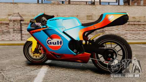 Ducati 848 Gulf para GTA 4 vista direita