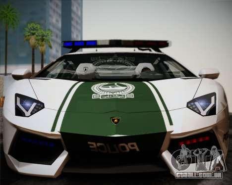 Lamborghini Aventador LP700-4 2012 RCPD V1.0 para GTA San Andreas esquerda vista