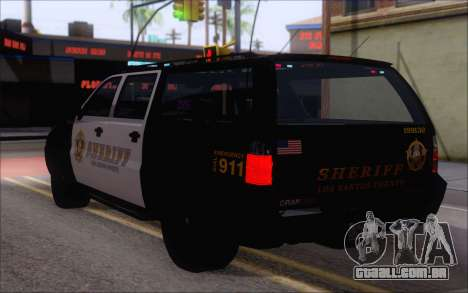 Um jipe da polícia de GTA V para GTA San Andreas esquerda vista