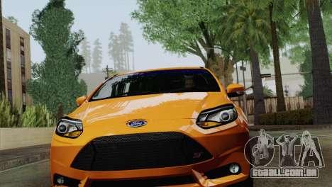 Ford Focus ST 2013 para GTA San Andreas esquerda vista
