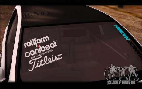 Volkswagen Golf MK5 Lowstance para GTA San Andreas traseira esquerda vista