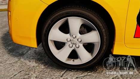 Toyota Prius 2011 Adelaide Taxi para GTA 4 vista de volta