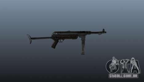Pistola-metralhadora MP 40 para GTA 4 terceira tela