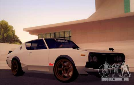 Nissan Skyline KPGC110 Fatlace para vista lateral GTA San Andreas