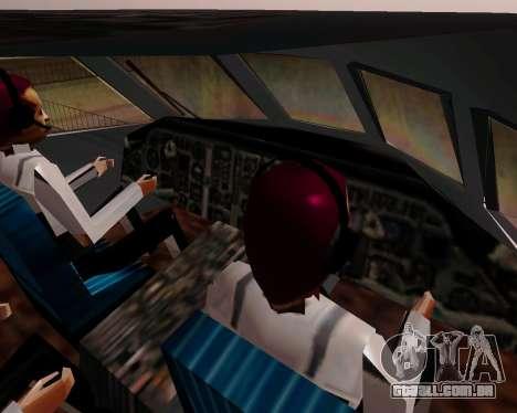 Iaque-42D0547 UTair para GTA San Andreas vista traseira