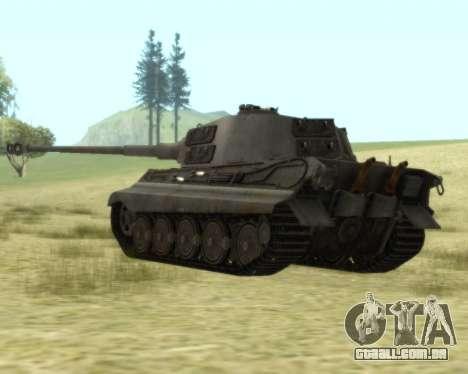 PzKpfw VIB Tiger II para GTA San Andreas vista direita