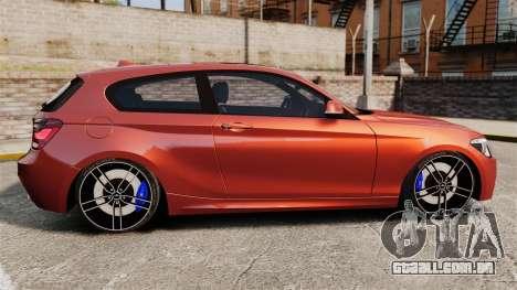 BMW M135i 2013 para GTA 4 esquerda vista