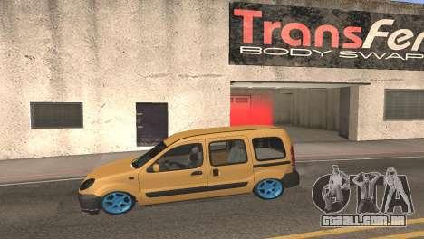 Renault Kangoo 2005 v1.0 TMC para GTA San Andreas esquerda vista