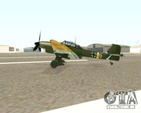 Junkers Ju-87 Stuka para GTA San Andreas esquerda vista