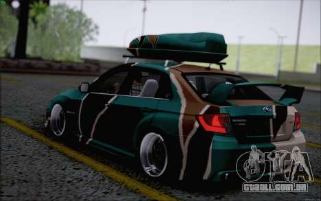 Subaru Impreza Arma para GTA San Andreas traseira esquerda vista