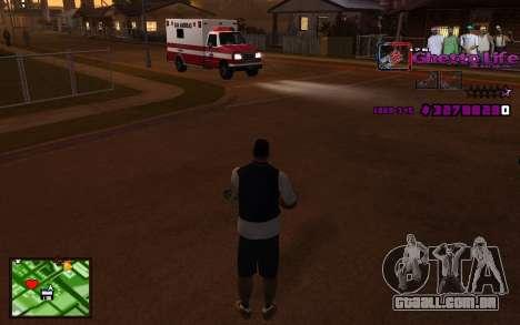 Com a vida de HUD-Getto para GTA San Andreas segunda tela